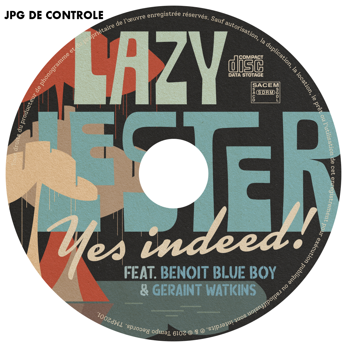 rondelle Lazy Lester yes indeed JPG de controle
