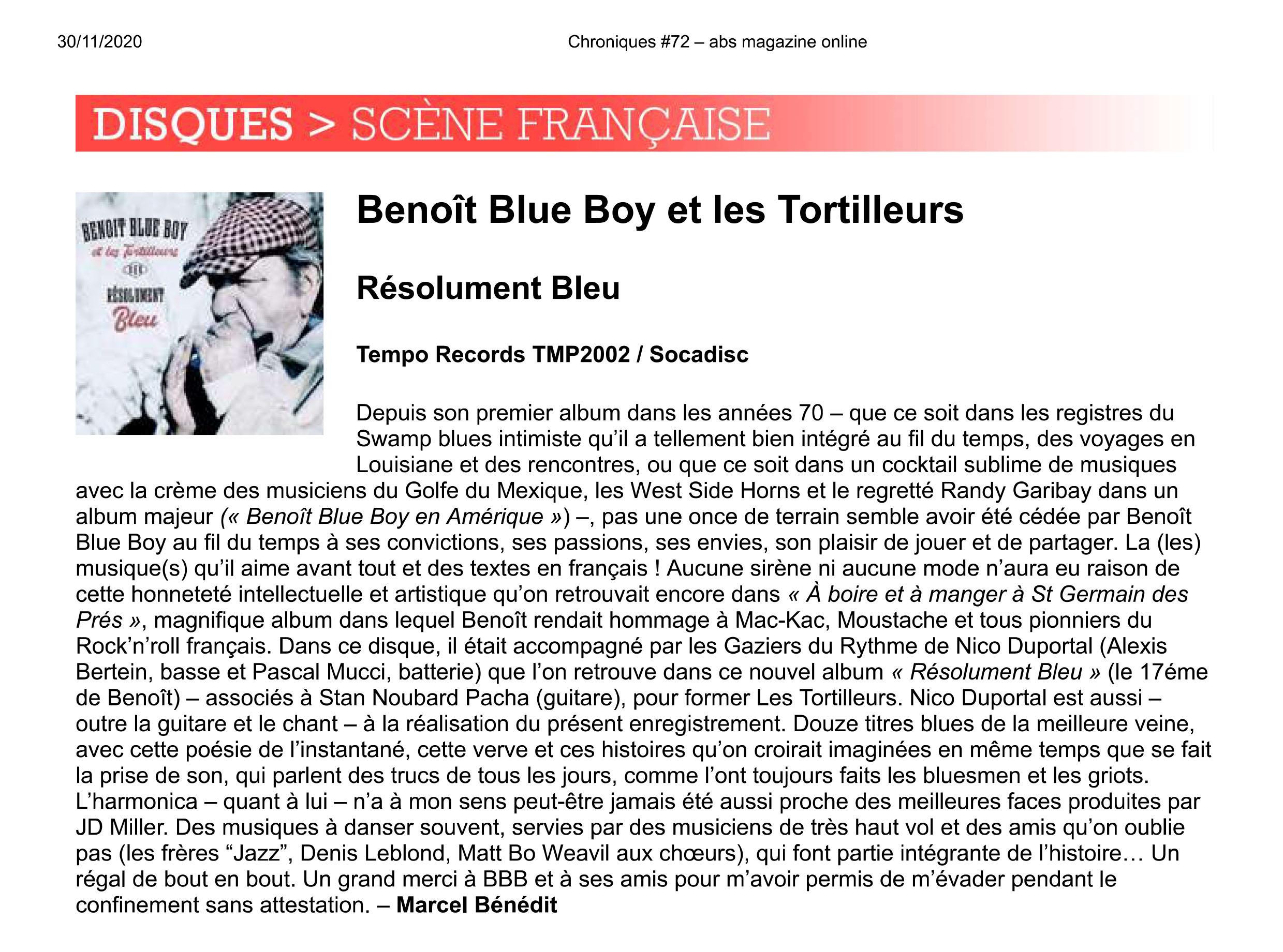 Chroniques #72   abs magazine online