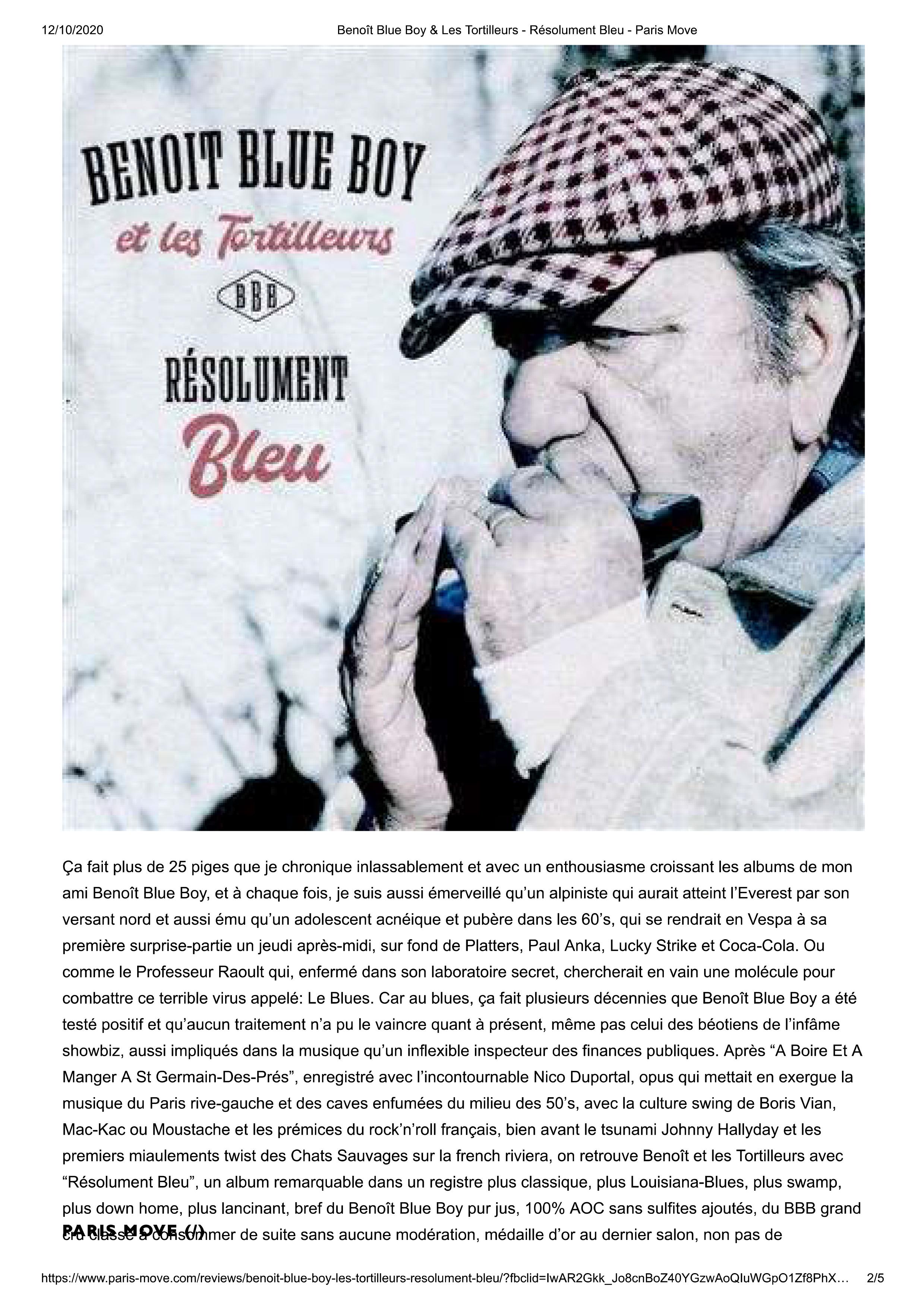 Benoît Blue Boy & Les Tortilleurs - Résolument Bleu - Paris Mo